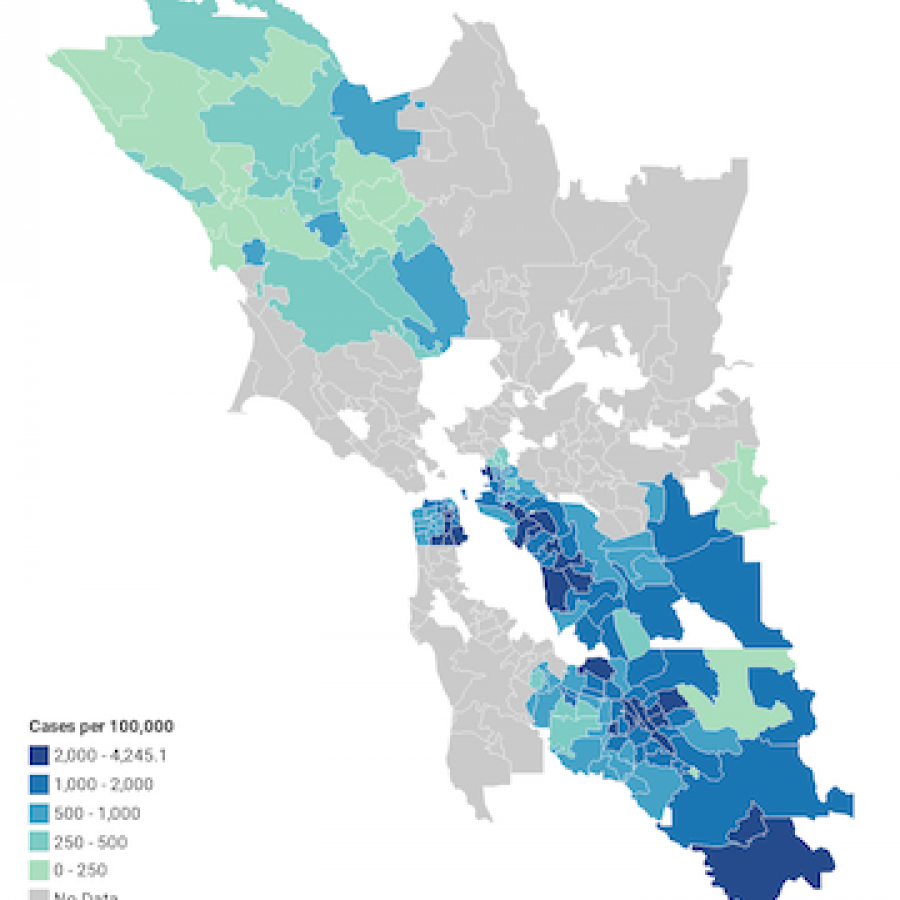 Covid cases by ZIP code